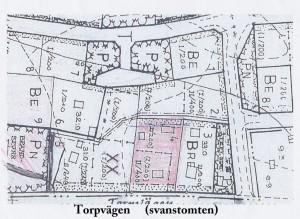 Karta bostadstomt